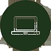 Icon mit Laptop